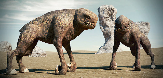 This render of two alien creatures shows the amount of photorealism achievable through digital sculpting in conjunction with other modeling, texturing, and rendering techniques.
