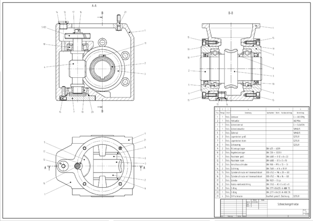 Example: 2D CAD drawing