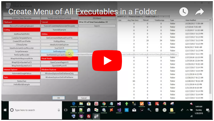 create a menu of all executables or hotkeys in a folder
