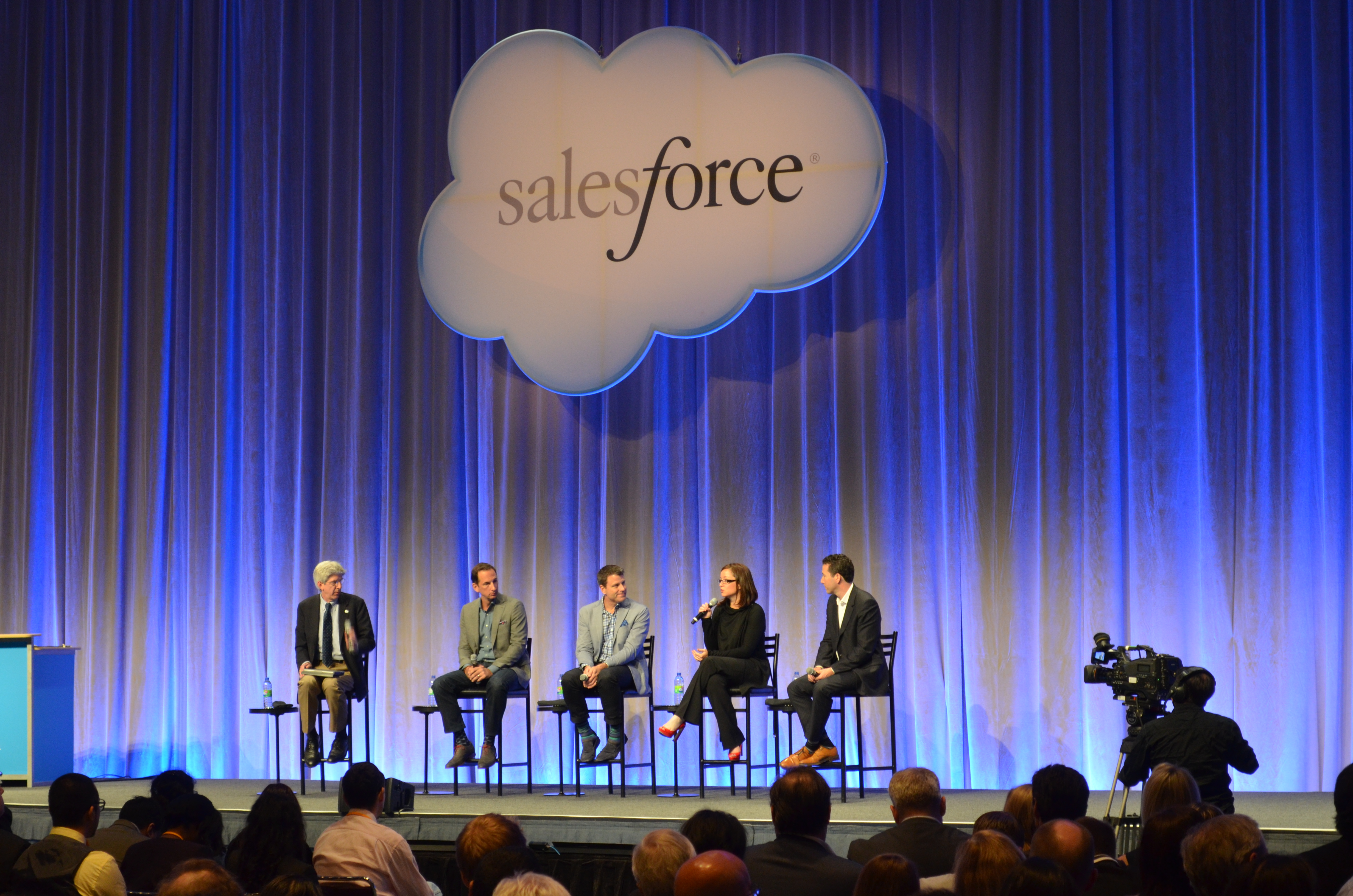 A discussion panel at Salesforce