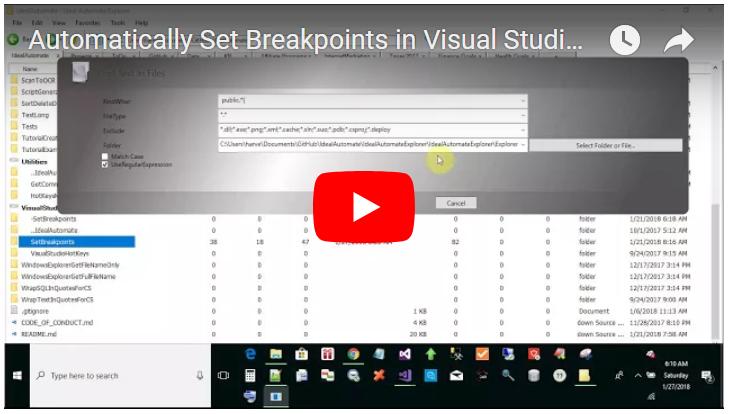 Visual Studio set breakpoint on every method
