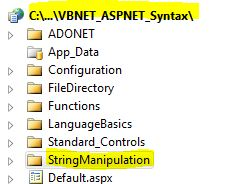 VB.NET ASP.NET Syntax StringManipulation Substring