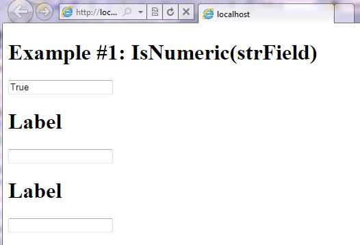 VB.NET Syntax StringManipulation IsNumeric screenshot