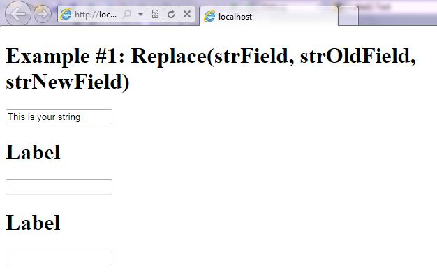 VB.NET Syntax StringManipulation Replace screenshot
